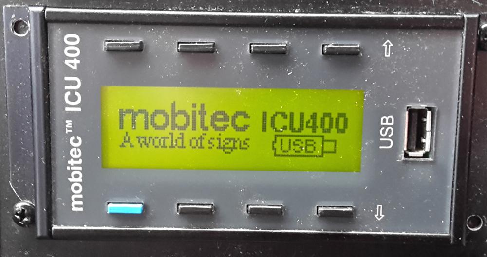 Mobitec ICU 400 USB kontrolieris konfigurācija serviss | 00028-00-00