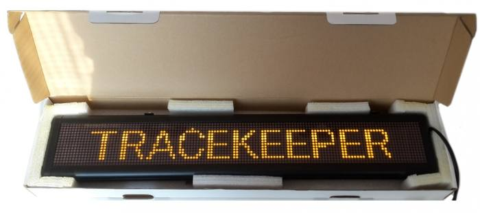 P4.75 SMD 115x650mm (16x128) mobile controlled LED sign | 00025-00-00
