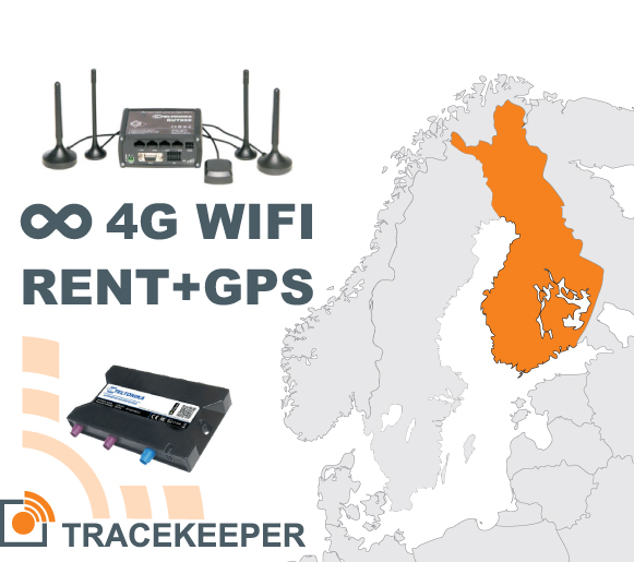 Router rent with unlimited 4G data in Finland and GPS tracking | 00052-00-00